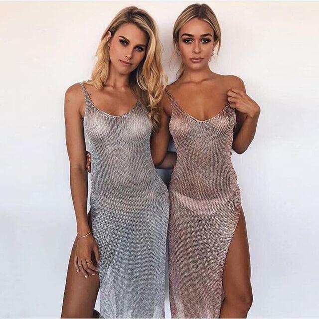 New Women Summer Lace Crochet Bikini Cover Up Swimwear Bathing Suit Beach Dress