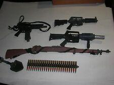 lot of 6 misc Toy Guns accessories GI Joe Vintage Rifle 21st Century toys x