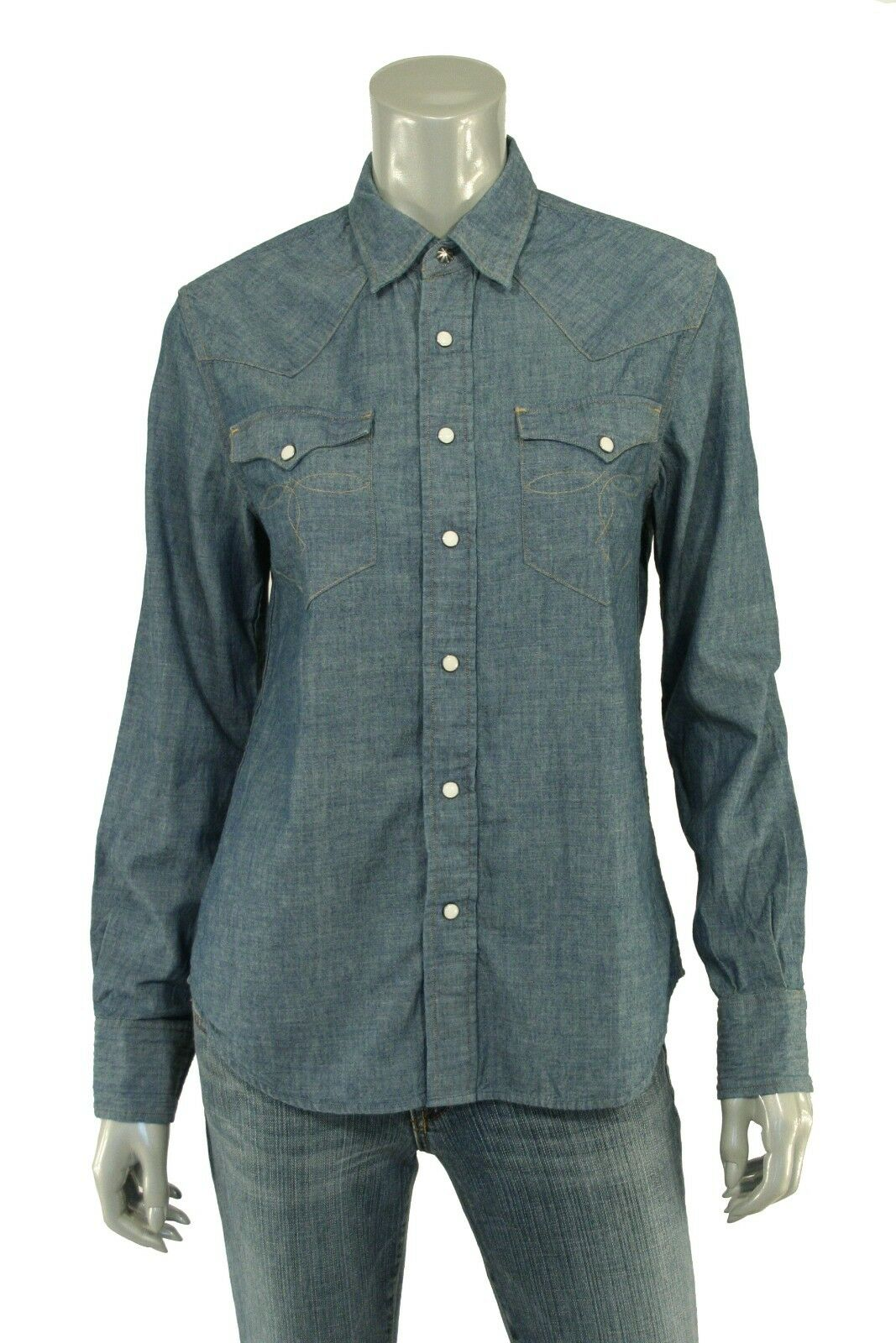 Woherren Ralph Lauren RRL Vintage Western Denim Shirt New