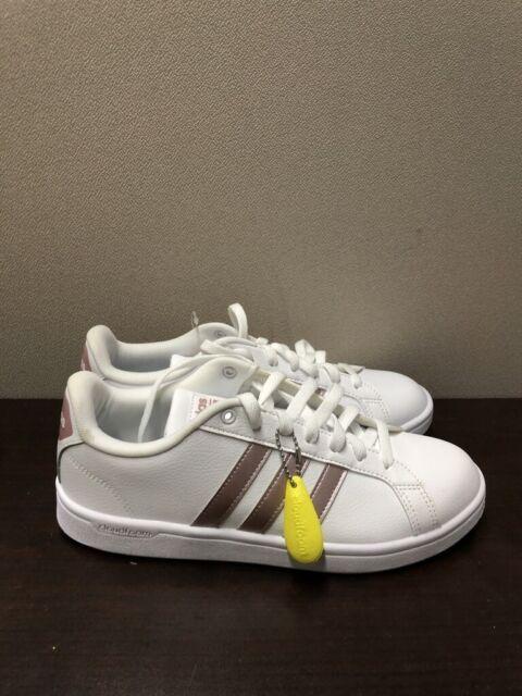 Size 9.5 - adidas Cloudfoam Advantage White Grey Metallic