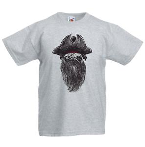 Pirate Dog Kid/'s T-Shirt Children Boys Girls Unisex Top