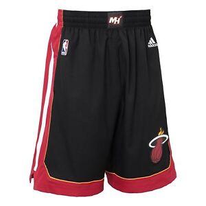 Détails sur Adidas Miami Chaleur International NBA Swingman Short Noir Basketball HOMME