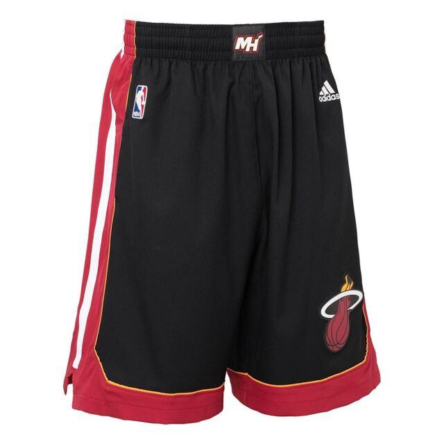 adidas MIAMI HEAT INTERNATIONAL NBA SWINGMAN SHORTS BLACK BASKETBALL MEN S 342b757d690c