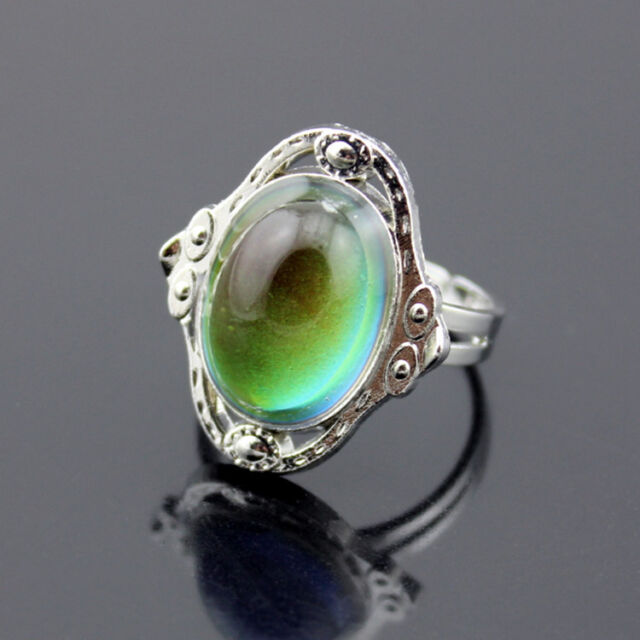 Fashion Mood Ring Changing Color Magic Adjustable Temperature Control Gift Hot