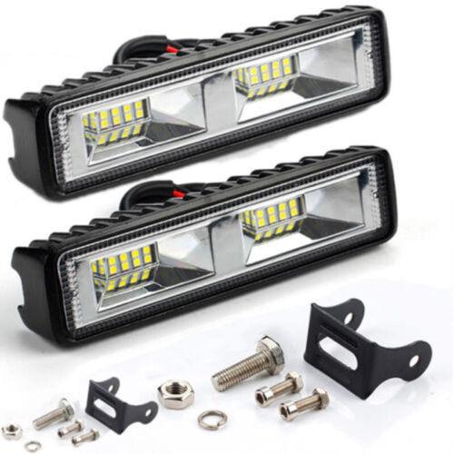 2PCS 12V 18W Lampe de Travail LED Barre Projecteur Hors Route 4WD SUV Atv Auto