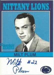Milt Plum Signed/Autographed 2006 Penn State TKLegacy Card #P22 151170