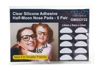 Gms Optical 3m Adhesive Silicone Nose Pads For Eyeglasses - Clear 13mm (5 Pair)