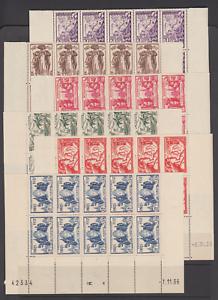 St-Pierre-amp-Miquelon-Sc-165-170-MNH-1937-Paris-Int-039-l-Exhibition-matched-block