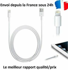 CABLE-POUR-IPHONE-X-8-7-6-5-S-SE-PLUS-IPOD-IPAD-CHARGEUR-USB-RENFORCE-BLANC-1M