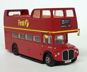 EFE-1-76-Scale-33101-RMC-Routemaster-Open-Top-First-London-Diecast-Model-Bus
