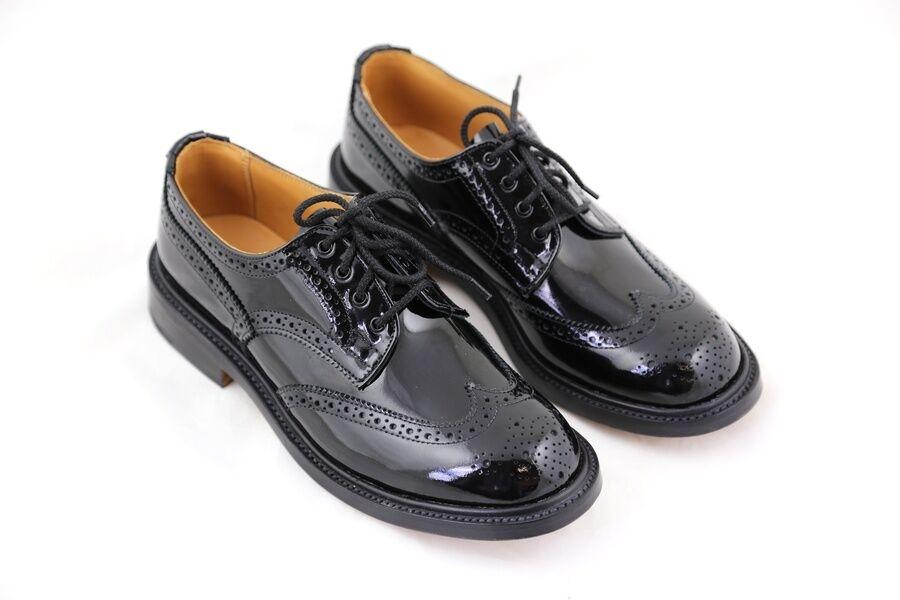TRICKER's Charol Negro Anne Formales Zapato Mujer varias tallas tallas tallas  4321ac