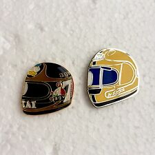 Barry Sheene & Joey Dunlop Pin Badges, Isle Of Man Manx TT, Hailwood, Agostini..