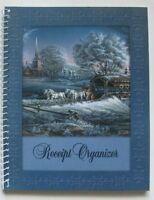 Christmas Receipt Organizer Book-pockets Description Lines-use Throughout Year