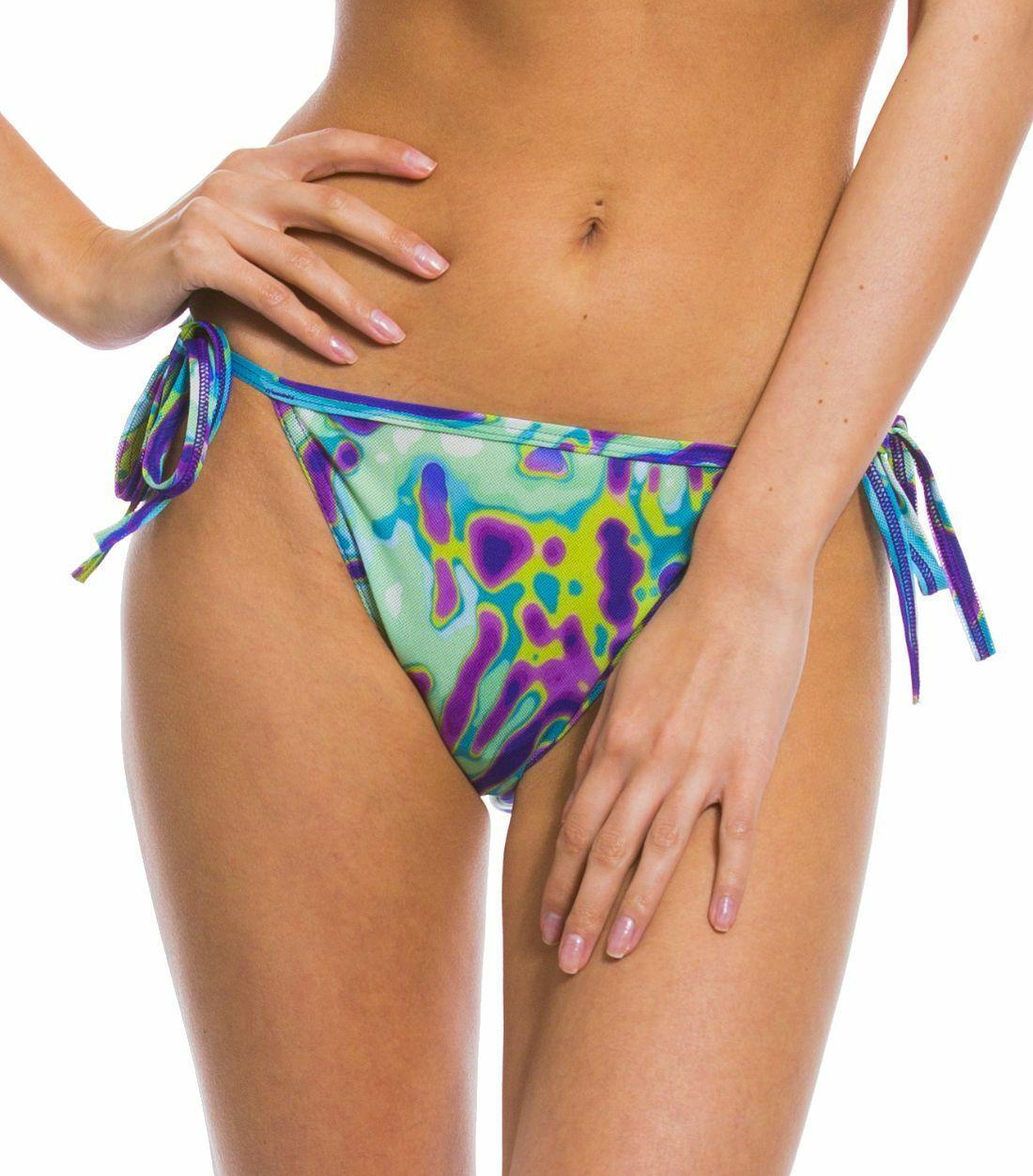 Kiniki Coral Tan Thru Sonnendurchlässiger Seitlich Zu Bindender Bikini Tanga