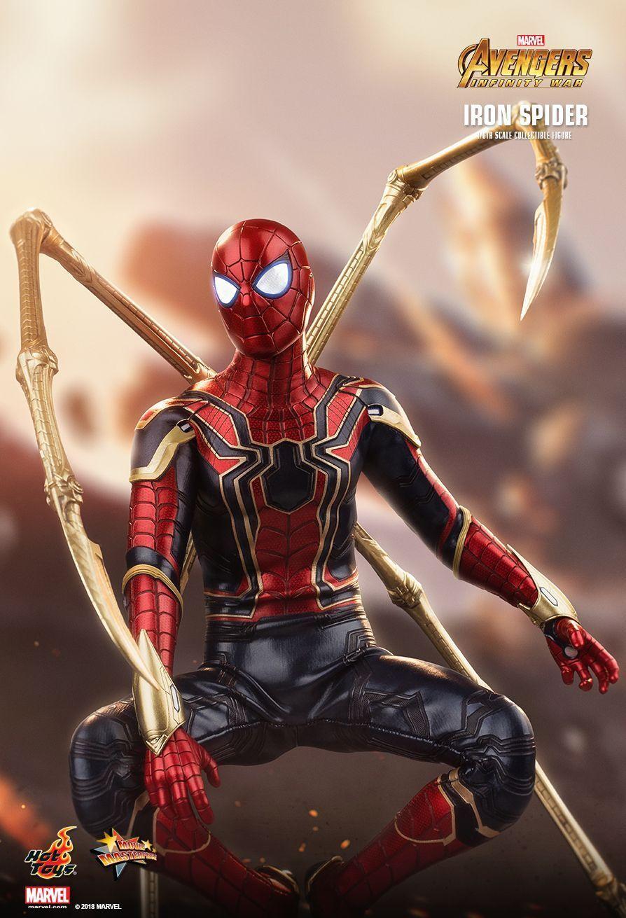 1 6 Hot Juguetes MMS482 plancha de guerra infinito Los Vengadores Hombre Araña 12  Figura De Acción Nueva