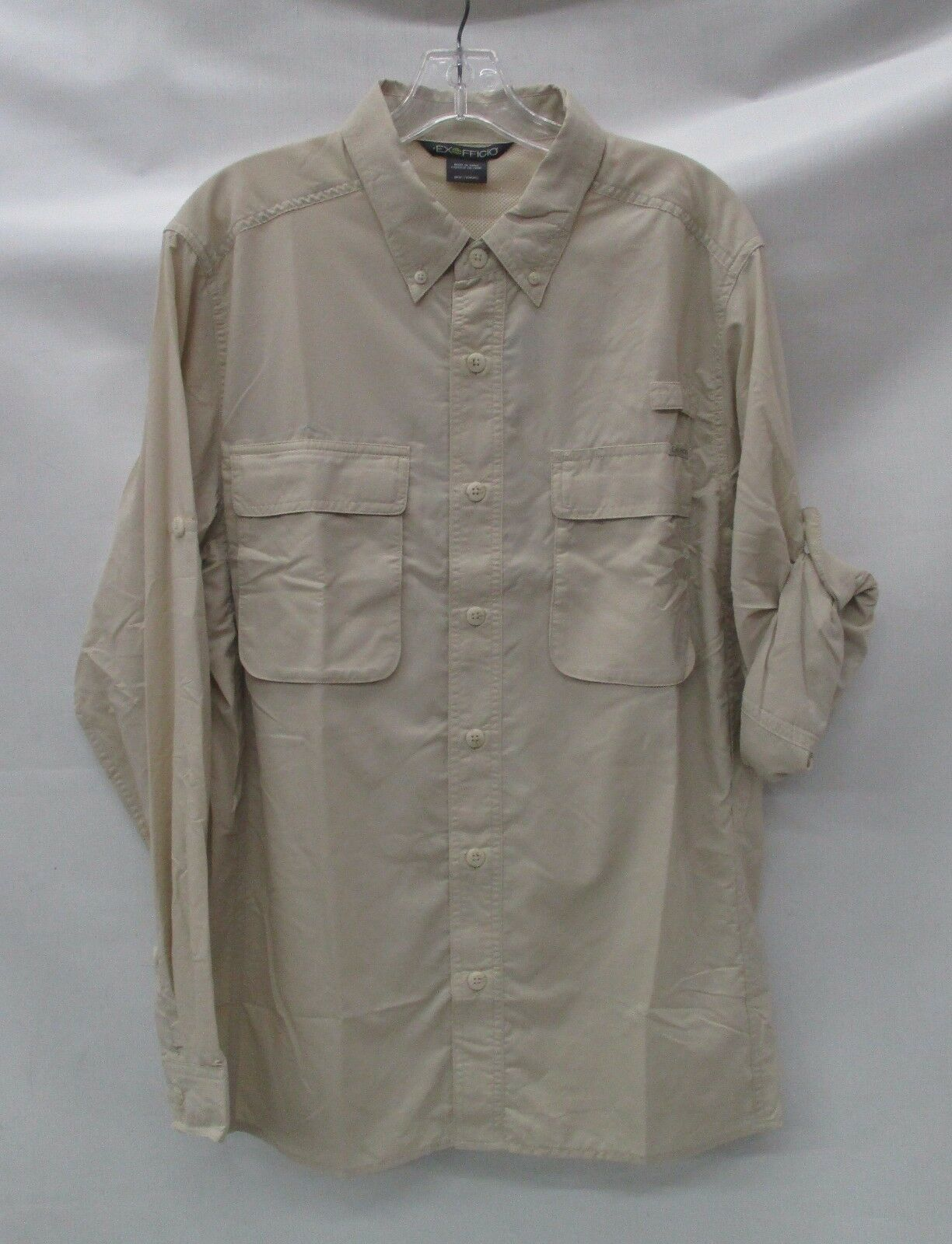 Exofficio Mens Air Strip Long Sleeve Shirt 1001 2035 Bone Size Large