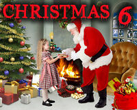 CH6 Christmas Holiday New Year Digital Backgrounds backdrops Template Prop Photo