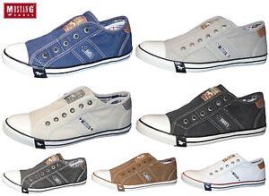 buy online a21be dcbdf Details zu MUSTANG Herren Sneaker Canvas Halbschuhe Schuhe Slipper 4058-401  REDUZIERT