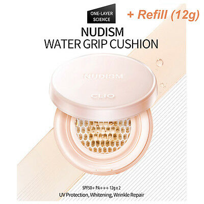 CLIO Nudism Water Grip Cushion Promotion Package [Product 12g + Refill 12g]