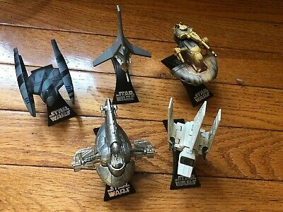 Star Wars Diecast Model Toy Titanium Droid Tri-Fighter Aircraft Replica