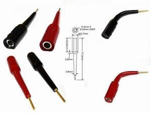 Verbinden von zwei Steckern Bananenstecker Doppel-Kupplung rot schwarz je 2x