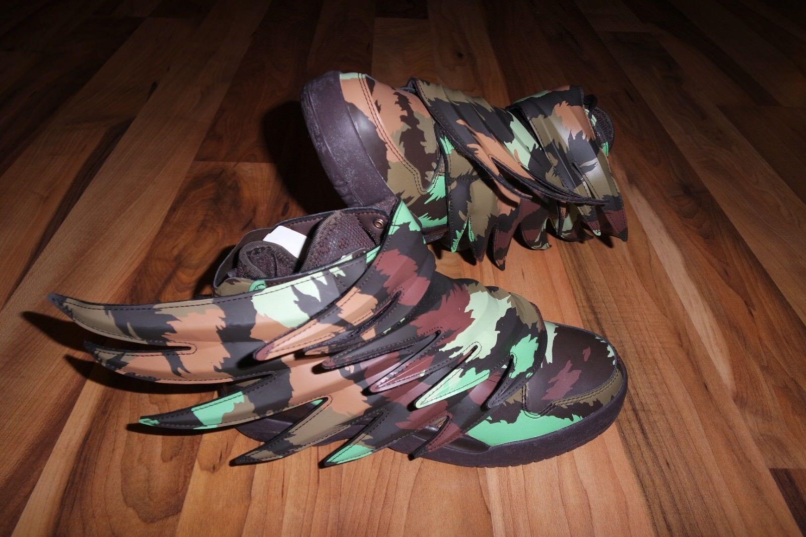 Adidas Obyo X Jeremy Scott Wings 3.0 Camo Sauvage Batman Zapatos EE. UU. 6.5  3