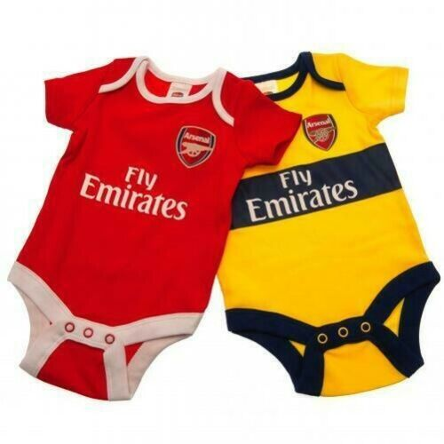 Arsenal Bébé Kit Body Pyjama Gilets Combinaison Chemise Court Chausettes Bavette