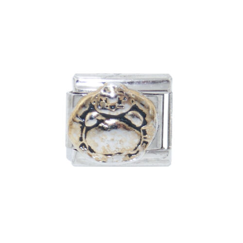 fits 9mm classic charm bracelets Buddha gold coloured enamel Italian Charm
