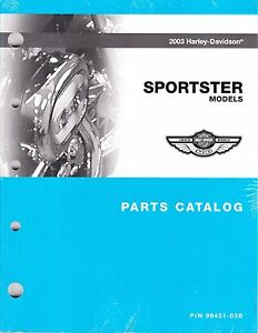 2003 harley sportster 883 1200 xl883 xl1200 part parts manual rh ebay com 2003 harley davidson sportster 883 owners manual pdf 2003 Sportster 883 Anniversary Edition