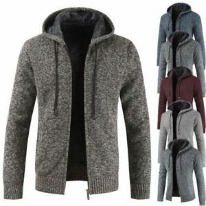 Mens-Winter-Warm-Slim-Sweater-Knitted-Cardigan-Jumper-Zip-Fleece-Lined-Coat-Top