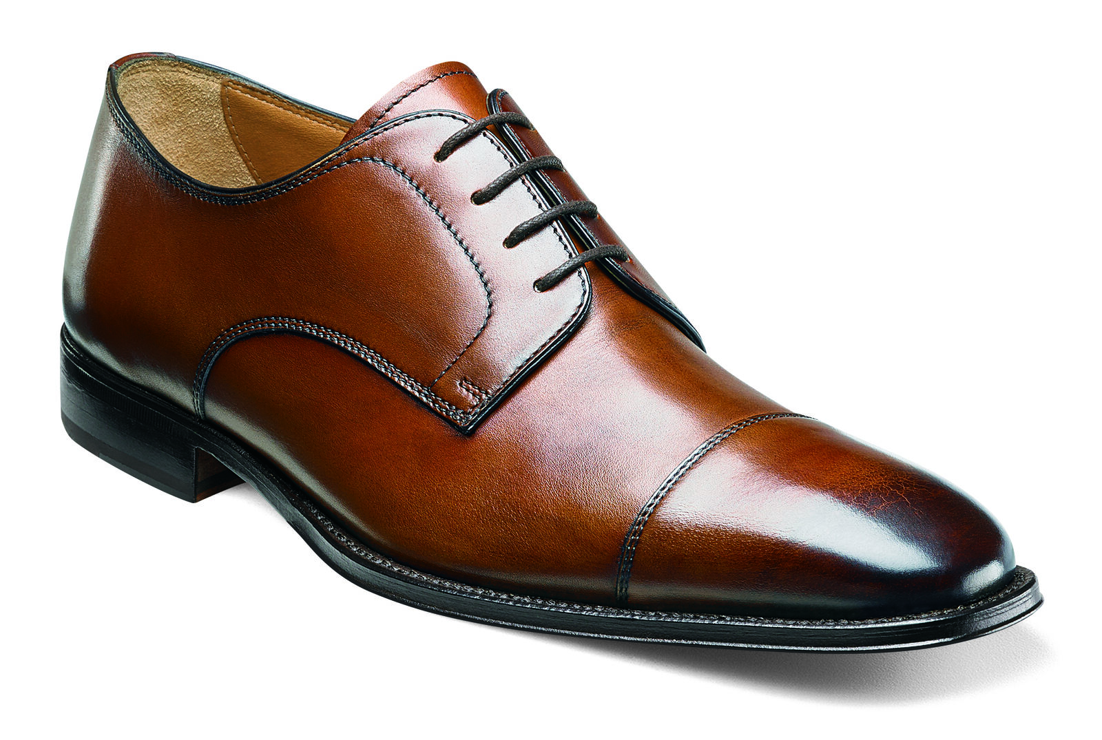 Florsheim Classico Mens Cognac Leather Lace Up Cap Toe Oxford Oxford Toe Dress Work schuhe 1b256b