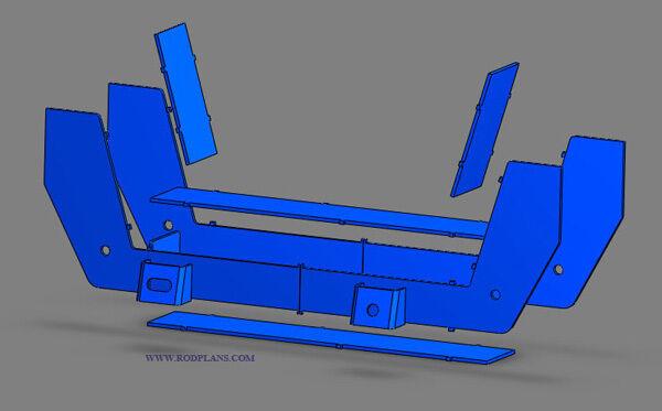 18 Mustang Ii Front Suspension 3d Blueprints Hot Rod Plans Street