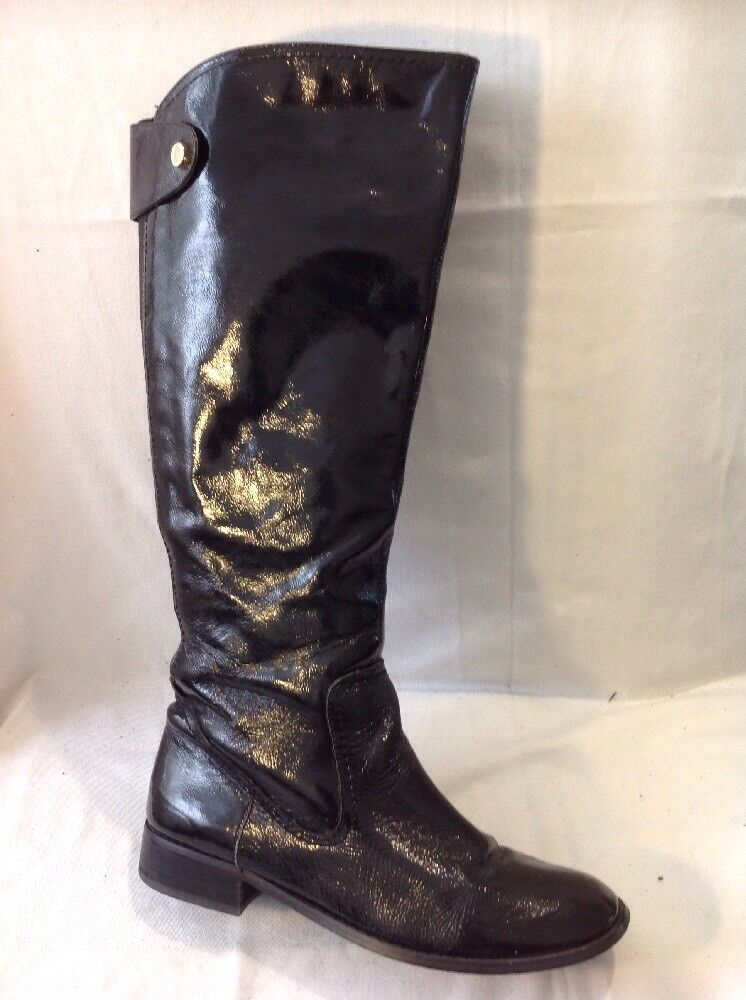 Autograph Black Knee High Leather Boots Size 6