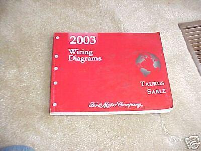 2003 Ford Taurus Sable Wiring Diagram Manual Ebay