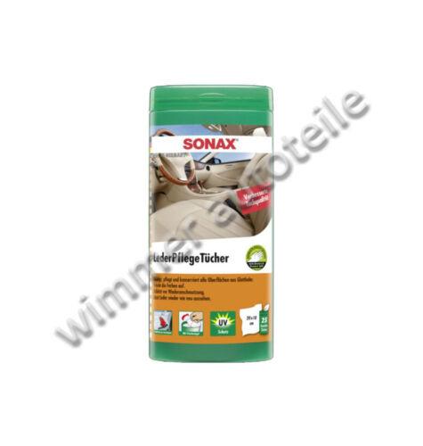 SONAX 412300 LederPflegeTücher Box 25Stk