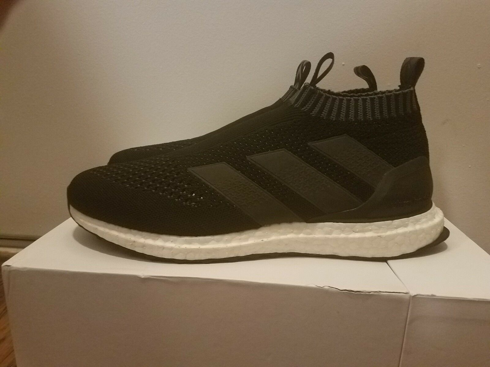 Adidas Ultra Boost Ace 16+ PureControl Primeknit PK Black White Size 10 BY1688