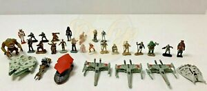 Star-Wars-Micro-Machines-Playset-Figures-Lot-33-total-Galoob-Toys-1990s