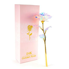 Valentine/'s Day Galaxy Rose Flower Lovers/' Gift Romantic Crystal Rose With Box L