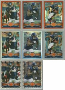 Chicago-Bears-8-card-2012-Topps-Chrome-REFRACTORS-amp-XFRACTORS-lot-all-different