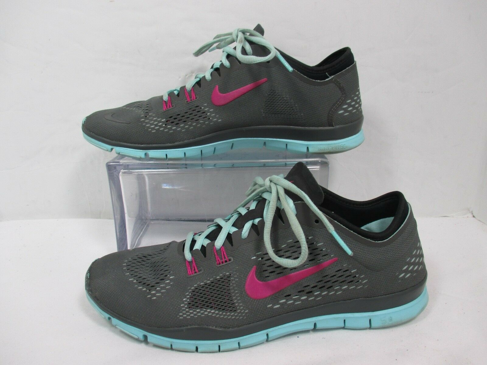 Nike Light Ash Grey/Hyper Turquoise  Free 5.0 TR Fit 4 Running Shoes Sz 10.5 Cheap women's shoes women's shoes