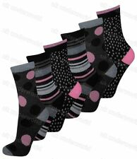 Ladies Womens Socks 3 Pairs Funky Coloured Design Designer Adults 4-6.5