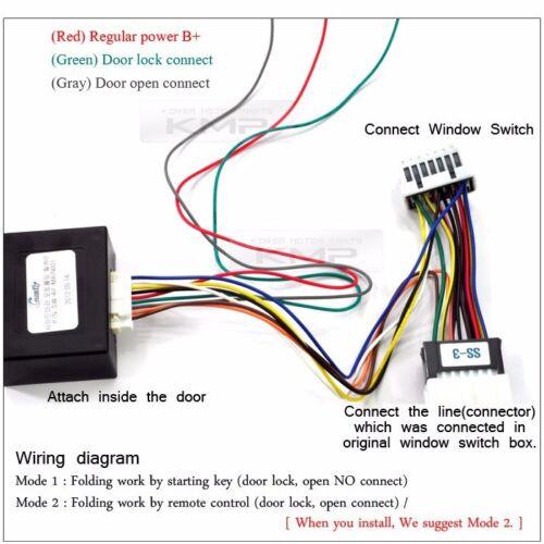 Side Mirror Auto Lock Folding Relay System SH-2 For KIA 10-13 Cerato Forte Koup