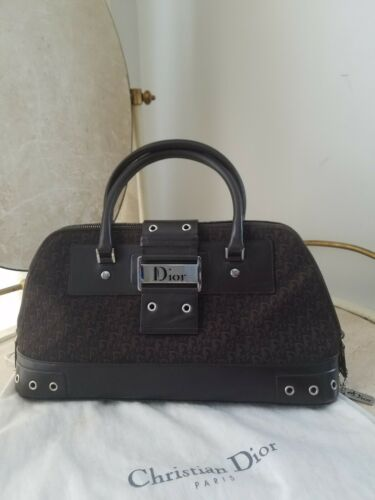 Auth Vintage Dior Street Chic Diorissimo  Canvas L