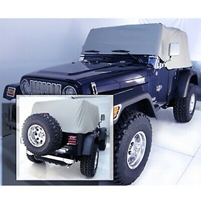 TJ 1161 Rampage Water Proof Cab Cover Grey for 1992-2006 Jeep Wrangler YJ
