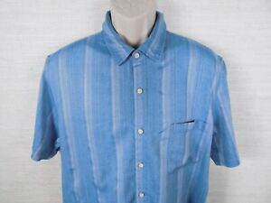 e5a0c58550a Tasso Elba Mens Shirt Silk Blend Short Sleeve Hawaiian Baby Blue ...