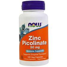 Now Foods Zinc Picolinate, 50 mg, 120 Veggie Capsules