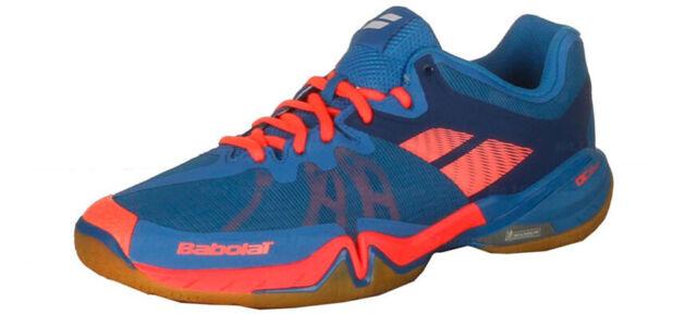 0513a067ae1d0 Babolat Shadow Tour Men's Badminton Shoes Indoor Court Blue Sports  30S1688233