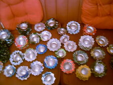 2 X HANDMADE CAN ASHTRAY/COIN TRAY/CANDLE HOLDER,COASTER-COCA COLA,ENERGY DRINK