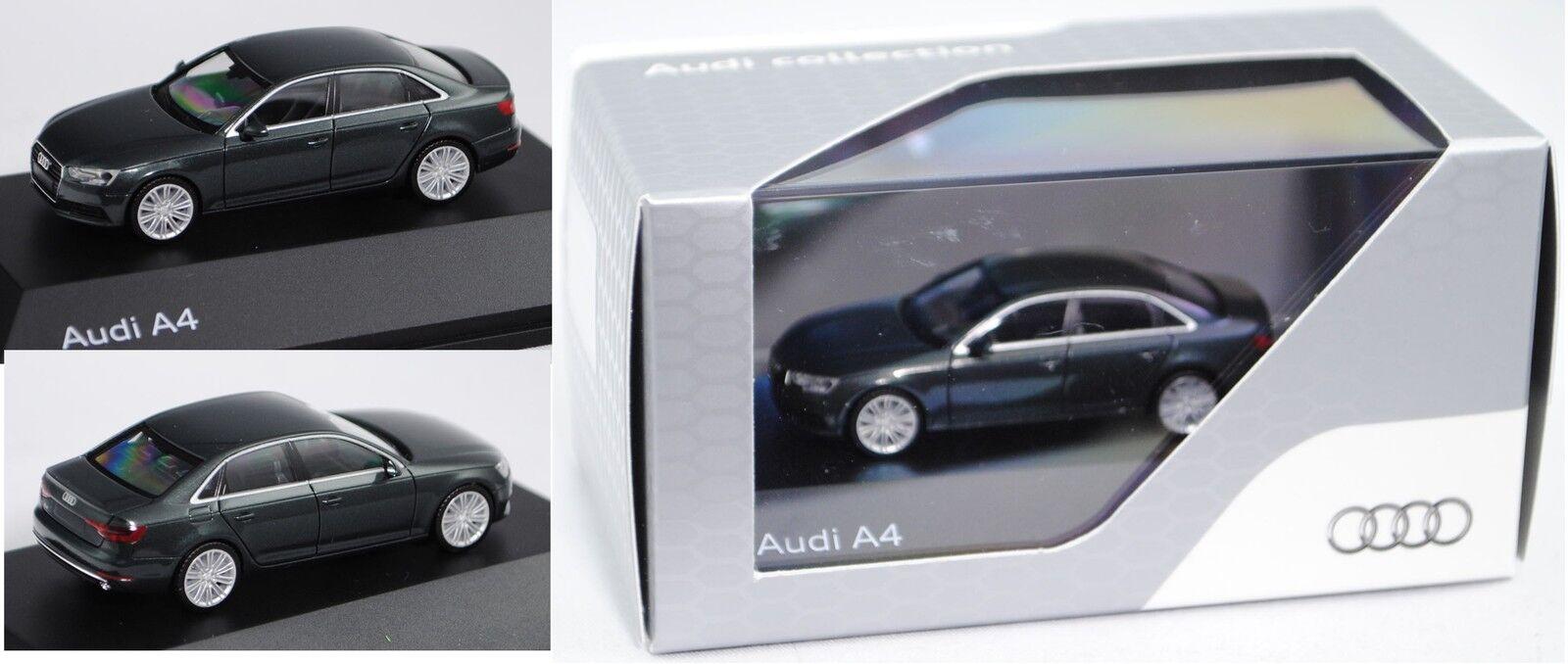 Herpa 5011504122 audi a4 (b9), modèle 2015-, gotlandvert, 1 87, neuf dans sa boîte