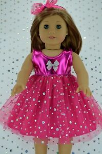 Our Generation American Girl Journey 18 Inch Doll Clothes Shoes Pink Sequins